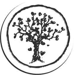Runde Zeichnung mit einem Lebensbaum
